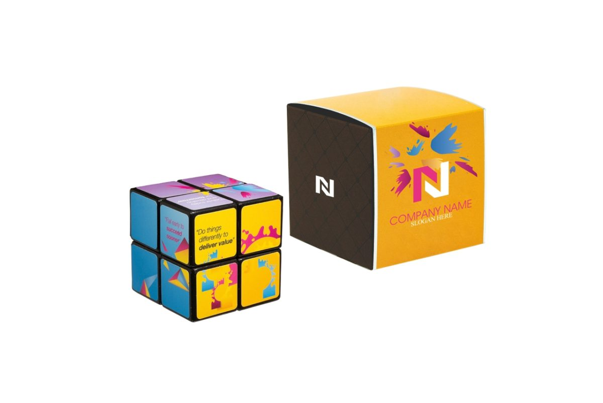 2 x 2 Corporate Rubiks Cube with box