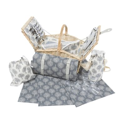 Deluxe Picnic Basket Set - Natural Tree 2