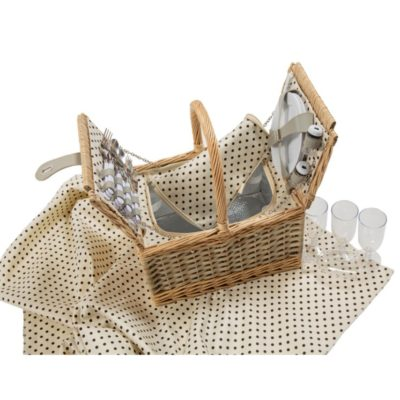 Polka Dot Picnic Basket Set