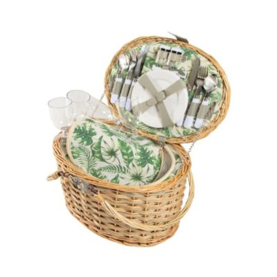 Tropical Picnic Basket Set