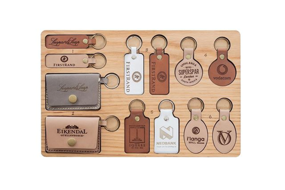 Leather Keyring Options - Logo