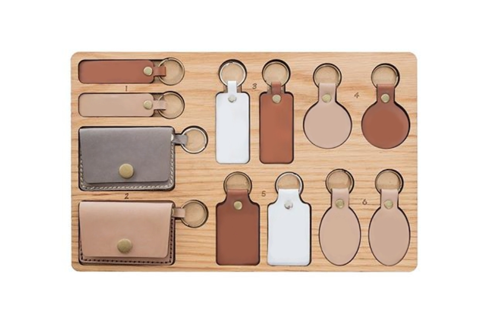 Leather Keyring Options