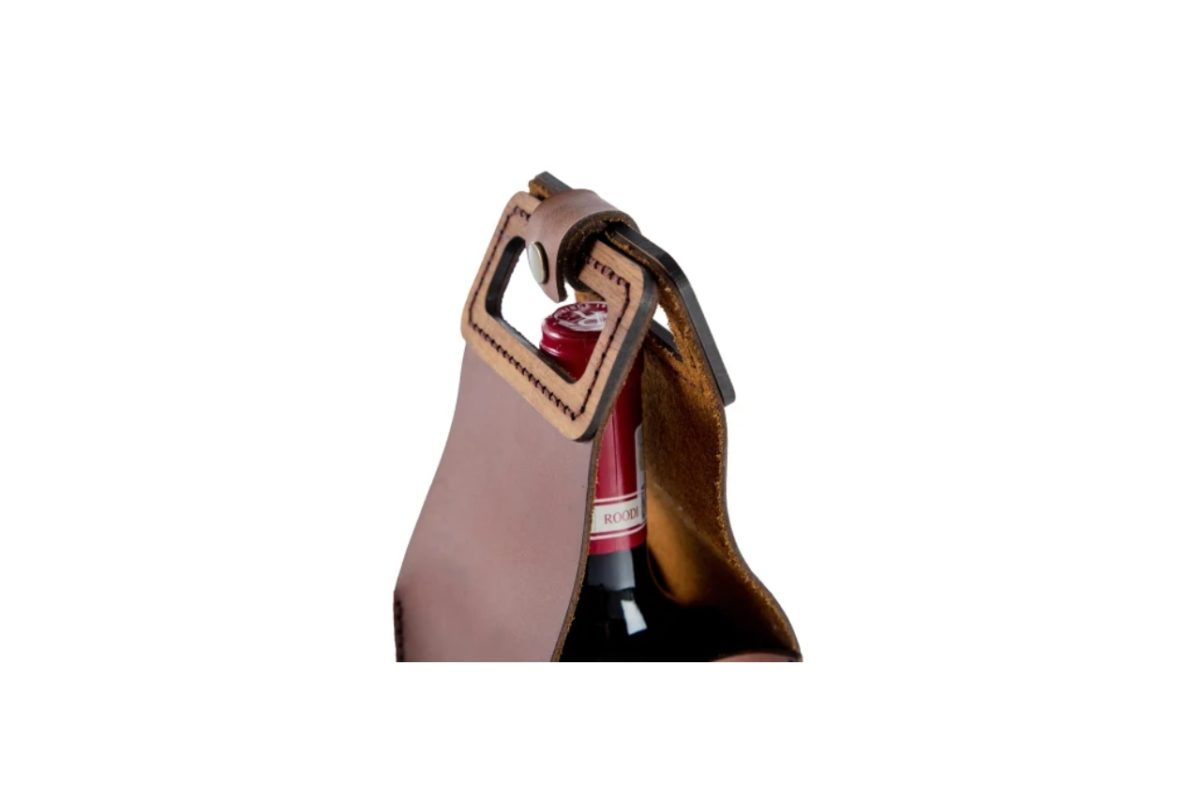 Luxury Leather Wine Carrier