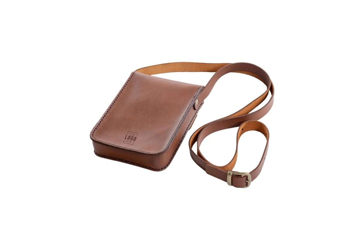 Unisex Leather Pocket Bag - Back