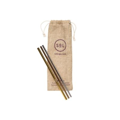 SoL Reusable Stainless Steel Straws