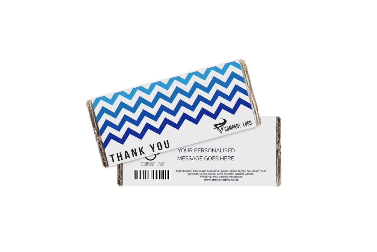 Ombre Thank You Branded Chocolate Slab